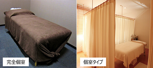 完全個室と個室の違い
