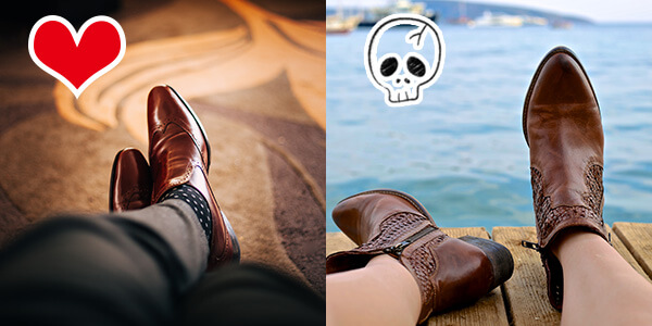 先のとがった靴が女性から嫌われる理由