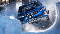 海外「どこ走ってんだよw」雪壁を走るスバル車の動画に驚きの声があがる