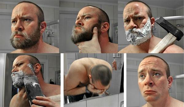 斧ひげ剃りのイメージ画像