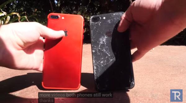 iPhone8と7の割れやすさ比較