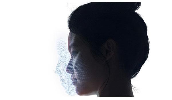 FaceIDで作られる顔マップのイメージ