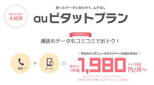 料金はUQモバイルの2倍!「auピタットプラン」は格安SIMほど安くはない