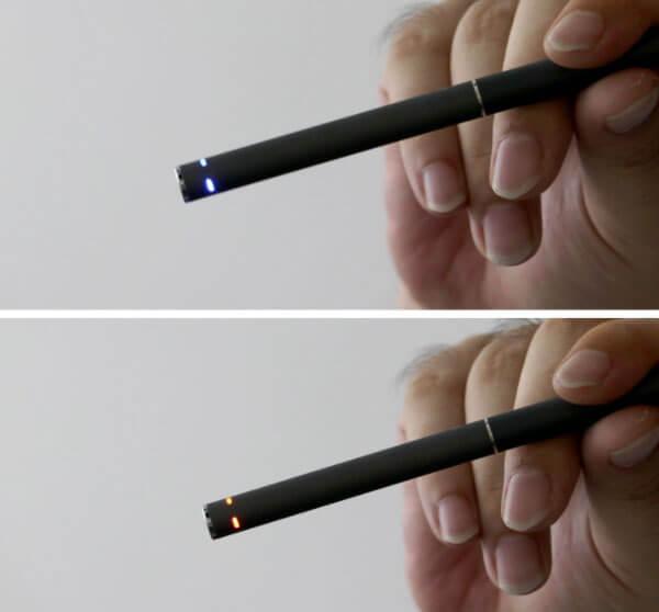 LEDランプの改良でタバコカプセルの交換時期が分かりやすい
