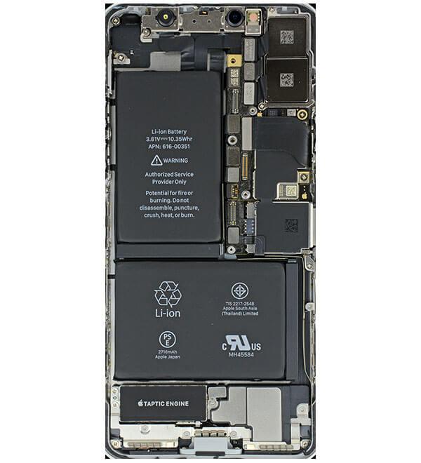 iPhoneXの分解イメージの壁紙1