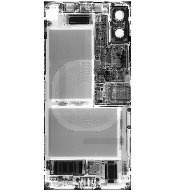 iPhoneXのX線を使った分解イメージの壁紙1