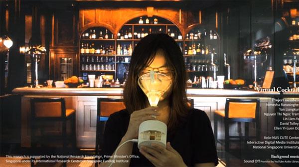 飲み物の味を自在に変えられるバーチャルグラス『Vocktail』登場!